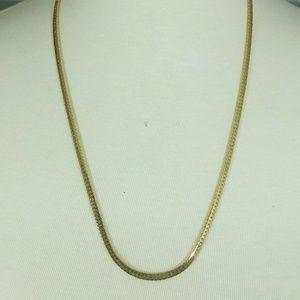 Monet Gold Tone Herringbone Chain